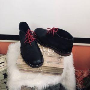 Cole Haan | Men Black leather booties sz 8.5M